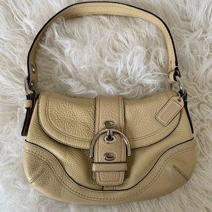 COACH Soho Hobo Beige Shoulder Bag